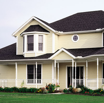 dutch lap siding home