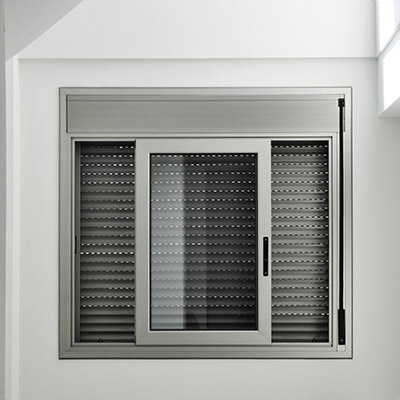 an aluminum window