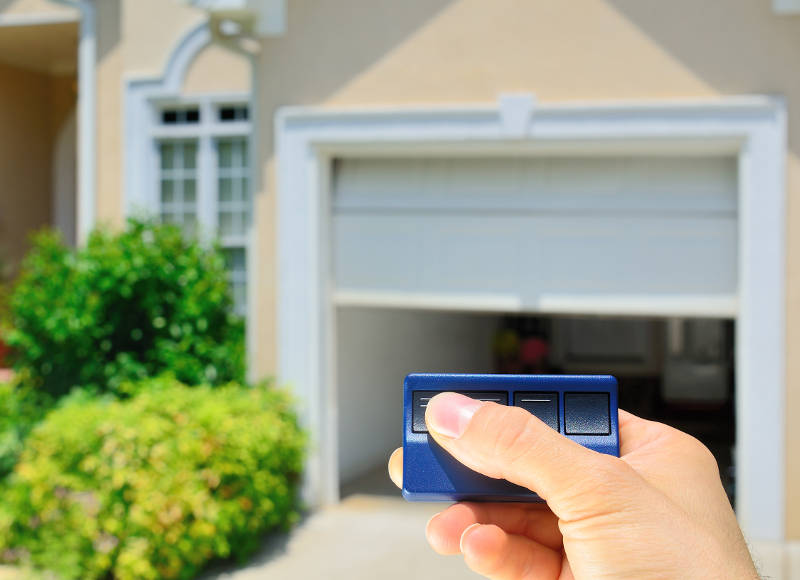 using a garage door opener
