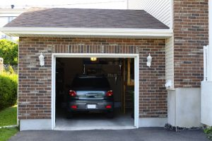 car inside of a garage