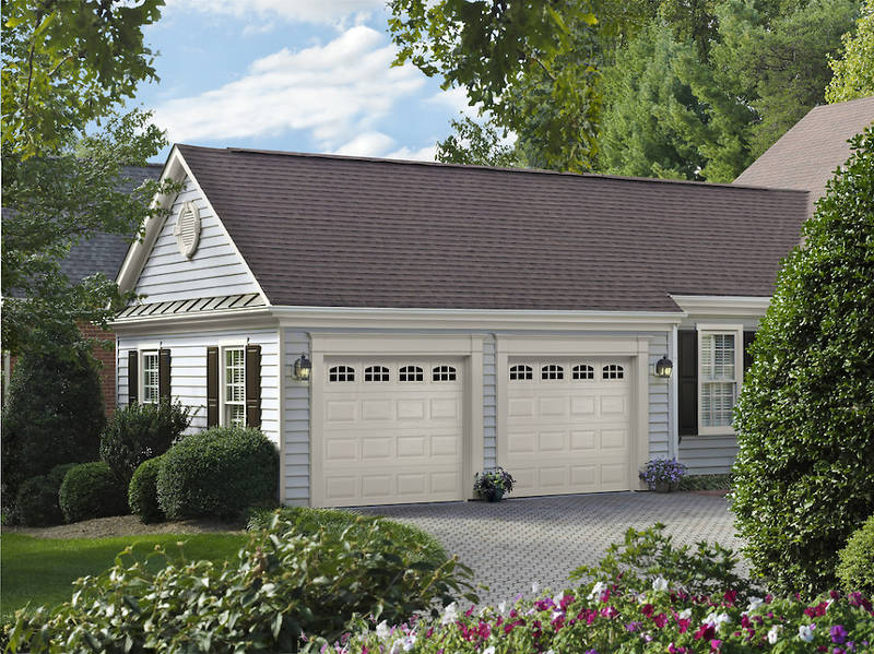 The ultimate buyers guide to garage doors feldco chicago for Standard two car garage