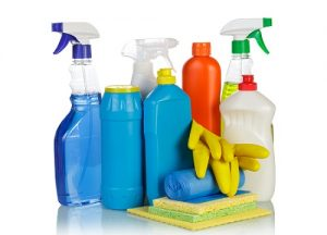 Cleaning items and gloves