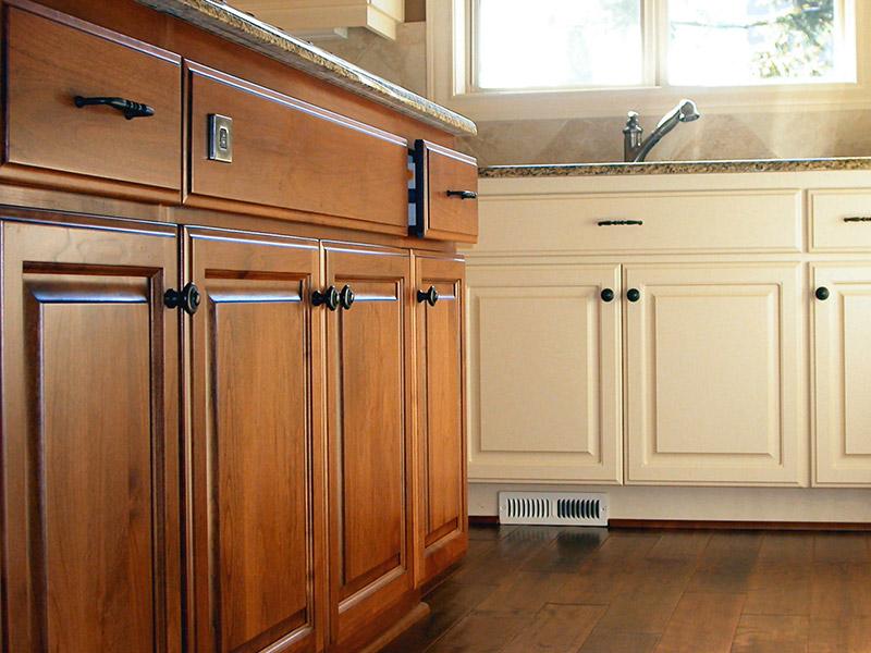 beautiful wood cabinets