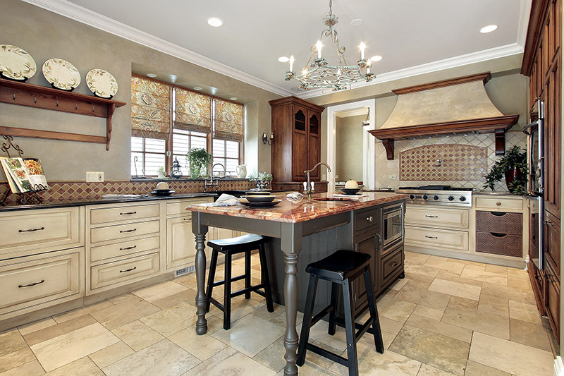 beautiful kitchen with an island