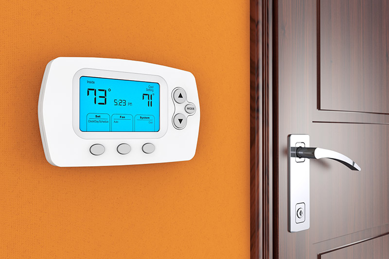 change the temperature on your thermostat