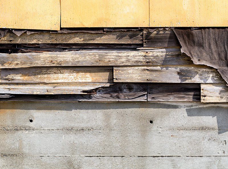 cracked siding