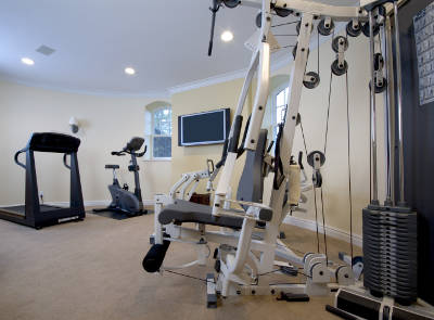 smaller basement gym
