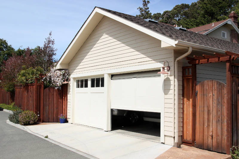 an open garage door