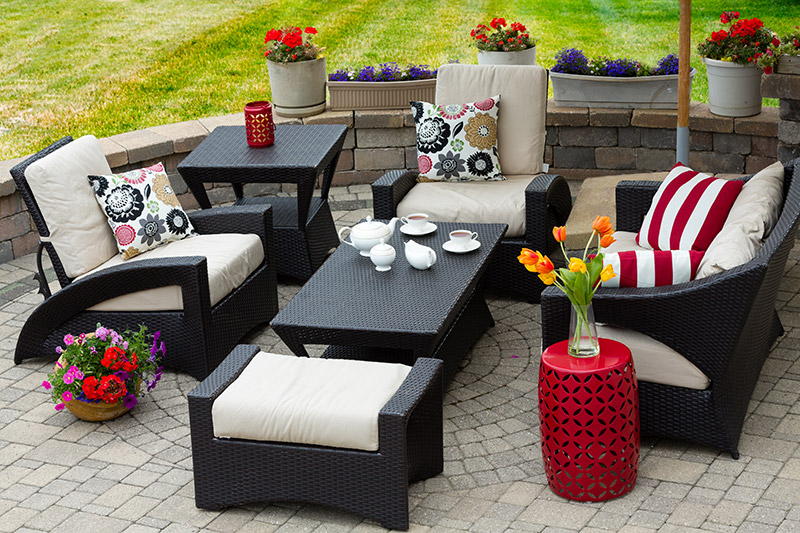 nice wicker patio furniture set