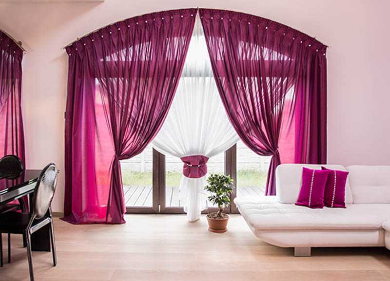 spring window fashions pink curtain