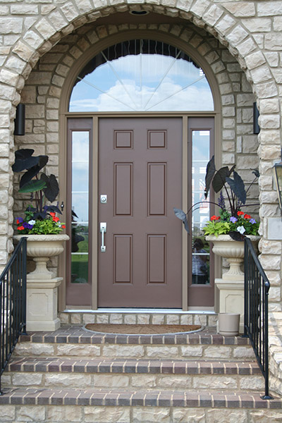 arched entryway door