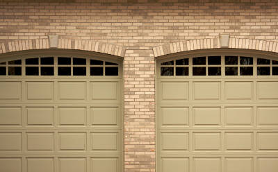 two steel garage doors