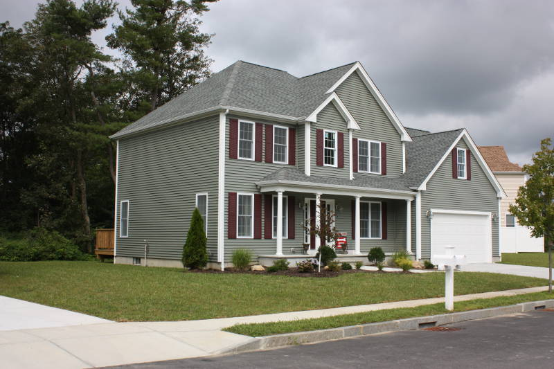 newly constructed vinyl siding