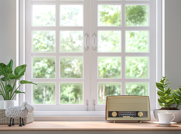 white wood window style